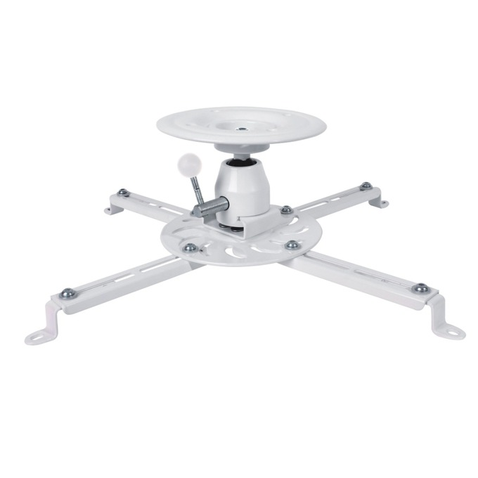 Стойка за проектор Sunne PRO300SB, за таван, въртене на 360° и наклон до 20°, до 25кг, бяла image