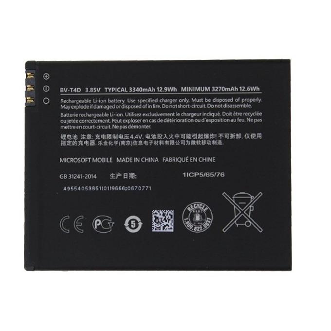 Батерия (оригинална) Microsoft BV-T4D за Microsoft Lumia 950 XL, 3340mAh/3.8V, Bulk image
