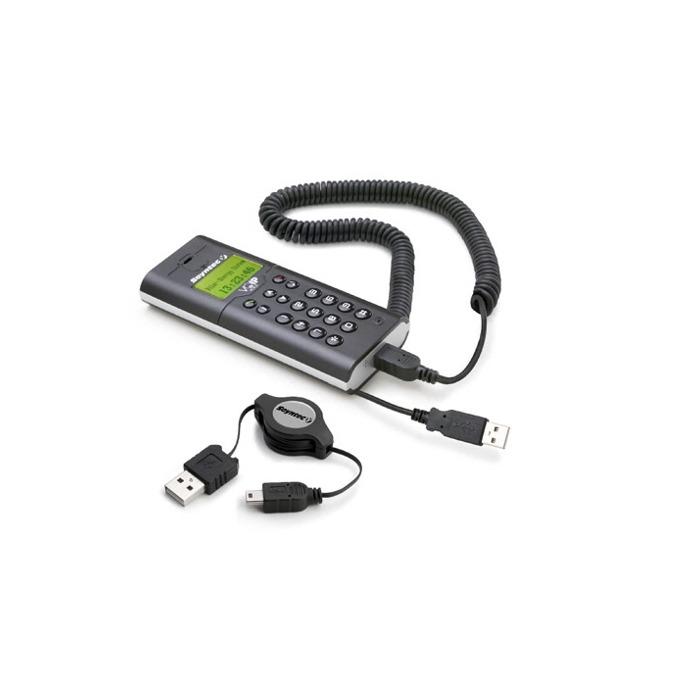 """VoIP телефон Energy Sistem Vipfoner 290, LCD дисплей, подходящ за лаптопи, функция """"изчакване"""", USB, черен image"""