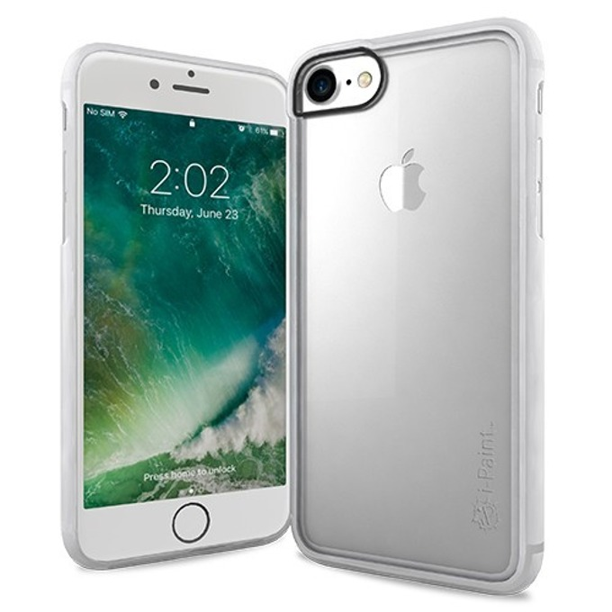 Калъф за Apple iPhone 8, хибриден, iPaint Matte Frame 121001, прозрачен image