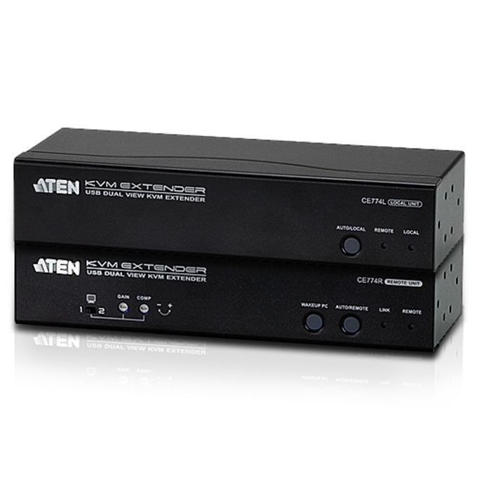 KVM екстендър ATEN CE774, DualView USB, 150 m, 1920x1080, Audio, Remote PC Wake UP image