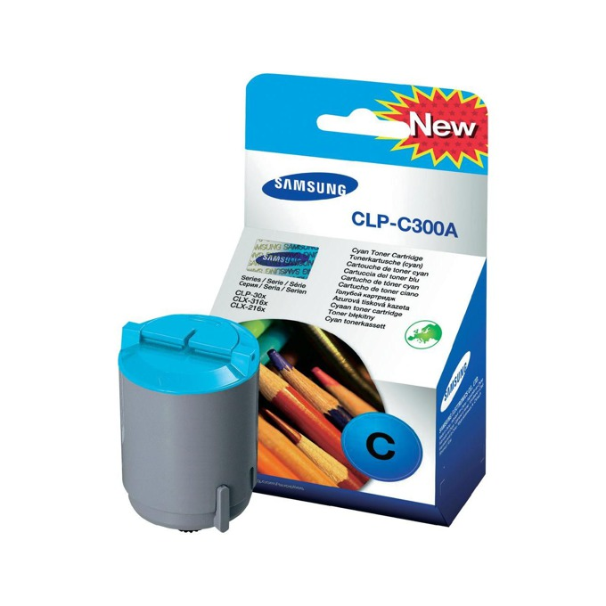 КАСЕТА ЗА SAMSUNG CLP300/CLX 2160/3160 - Cyan - P№ CLP-C300A - заб.: 1000k image