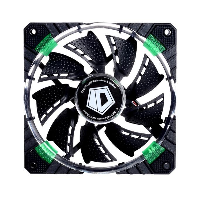 Вентилатор 120мм ID-Cooling CF-12025-G 120mm LED, 4-pin, 1600rpm, зелена LED подсветка image