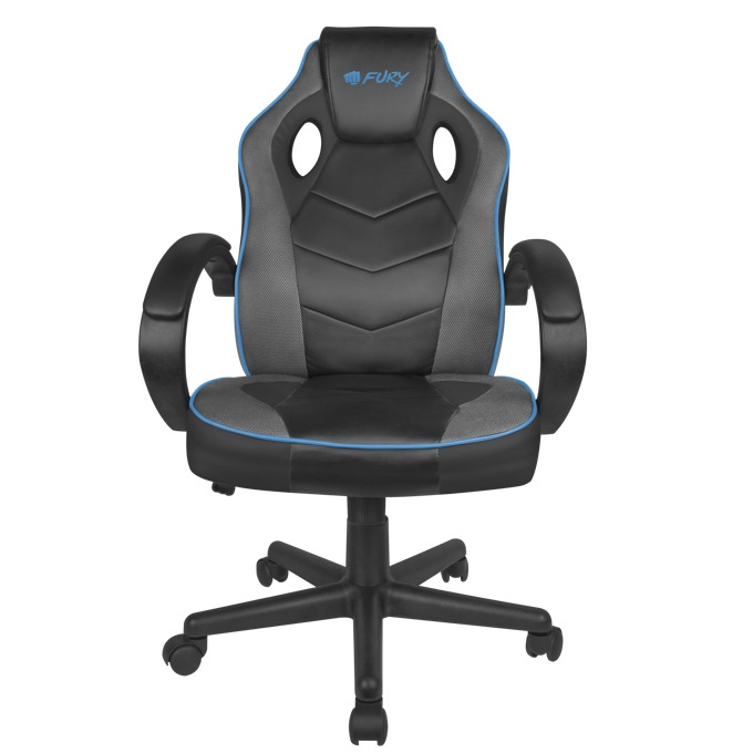 Геймърски стол Fury Avenger S, газов амортисьор, до 150 kg, черен/син image