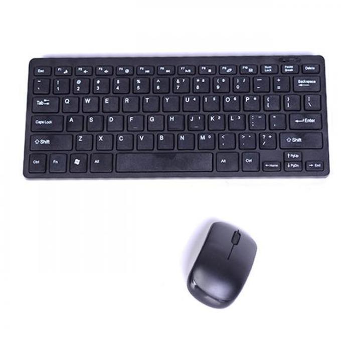 Комплект клавиатура и мишка Royal 903 wireless, безжични, 1000 DPI, без кирилизация, черни image