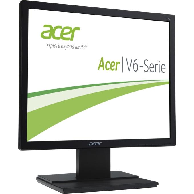 "Монитор 17"" (43.18 cm) Acer V176Lbmd (4:3) 5ms 100 000 000:1 250cd/m2 DVI TCO 6.0, черен, 3г. image"