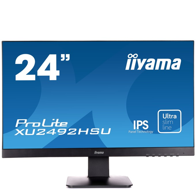 "Монитор Iiyama ProLite XU2492HSU-B1, 23.8"" (60.45 cm) IPS панел, Full HD, 5ms, 5 000 000:1, 250 cd/m2, DisplayPort, HDMI, VGA, USB image"