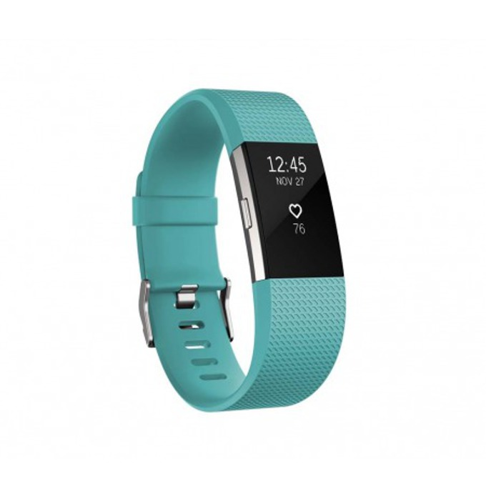 Смарт гривна Fitbit Charge 2 Small Size, Bluetooth, GPS, OLED Display, Mac OS X 10.6 (или по-нова), iPhone 4S (или по-нова), iPad 3 gen. (или по-нова), Android and Windows 10 devices, зелена image