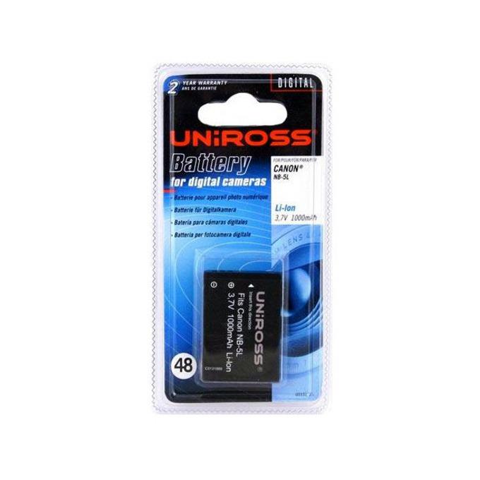 Батерия Uniross за апарат CANON NB5L, Digital Ixus 800, 850is, 900ti, Powershot SD700, SD800, SD900, LiIon 3.7V 1000mAh CS image