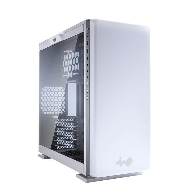 Кутия In Win 307 White, ATX, Micro-ATX, Mini-ITX, прозорец, програмируема подсветка, бяла, без захранване image