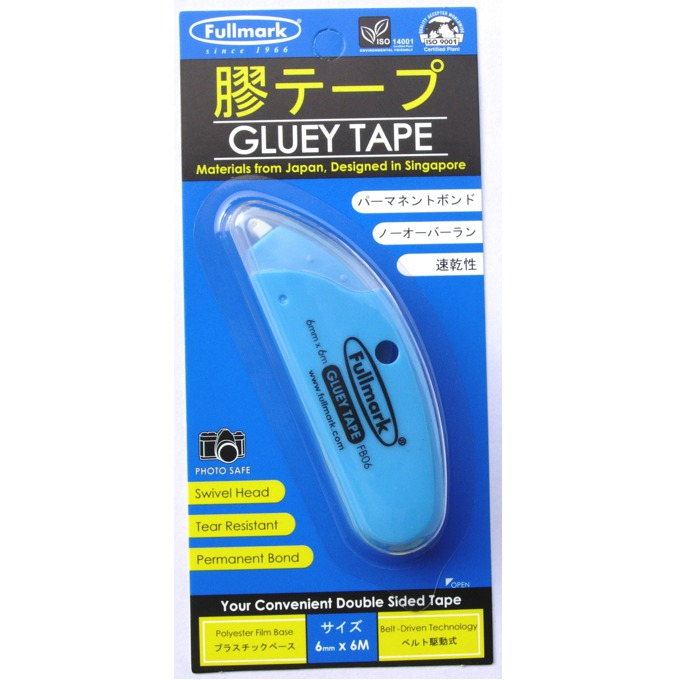Сухо лепило Fullmark GLUETAPE06CN, лентово(6мм), 6м, синьо image