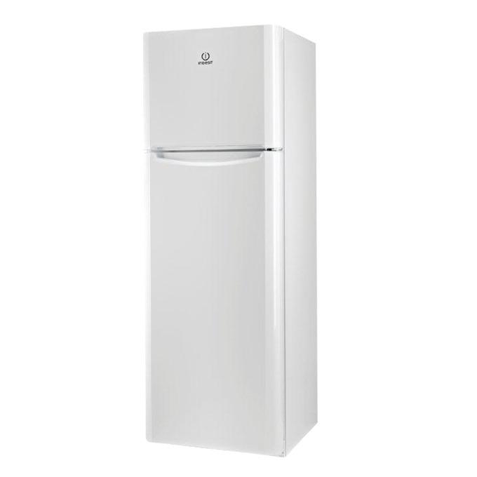 Хладилник с фризер Indesit TIAA12(1), клас А+, 306 л. общ обем, свободностоящ, 265 kWh/годишно, 4 стъклени рафта, aнтибактериална система, бял image