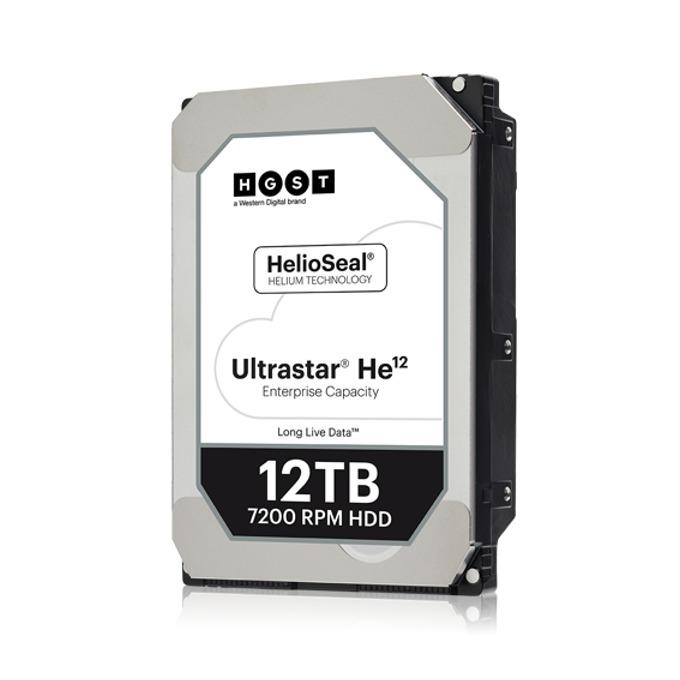 """Твърд диск 12TB HGST Ultrastar He12 HUH721212AL4200, SAS 12Gb/s, 7200 rpm, 256MB кеш, 4KN sector size(ISE P3), 3.5"""" (8.89cm) image"""
