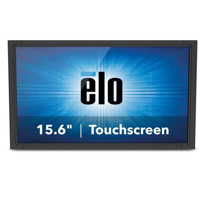 """Монитор ELO E331799, 15.6""""(39.62 cm), TN тъч панел, WXGA, 10ms, 500:1, 270cd/m2, VGA, DisplayPort, HDMI, черен image"""