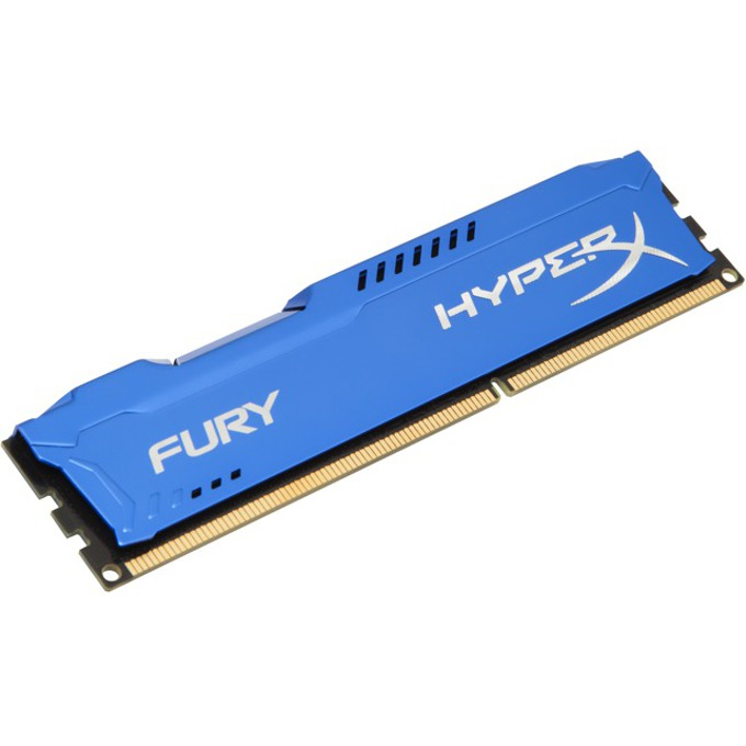 Памет 4GB DDR3 1600MHz Kingston HyperX Fury (синя) image