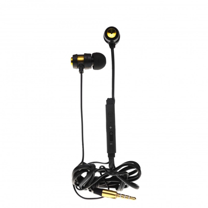 Слушалки Tellur In-Ear, Trendy series, микрофон, Stereo, златисти image