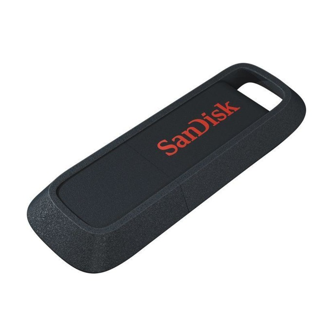 128GB USB Flash Drive, SanDisk Ultra Trek, USB 3.0, черна image