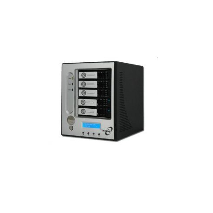 """Thecus I5500, Intel Xscale IOP80331, без твърд диск(5x 3.5"""" SATA), 512MB DDR333 RAM, LCD дисплей, RAID level: 0,1,0+1,3,5,6,10 и JBOD image"""