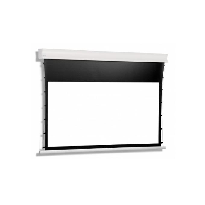 Екран Avers CUMULUS TENSION 24-14 MG BT, електрически екран за стена/таван, Matt Grey, 2700 x 1800mm, 16:9, черна рамка image