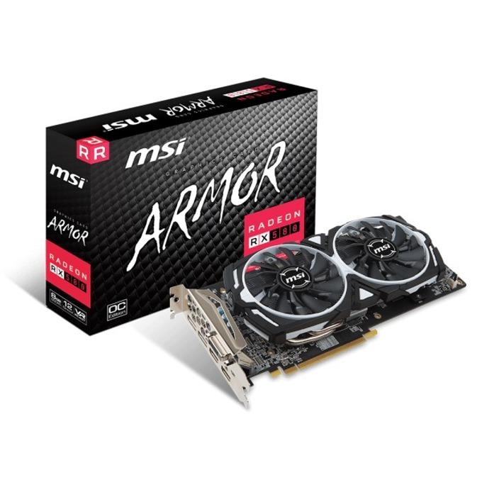 Видео карта AMD Radeon RX 580, 8GB, MSI Radeon RX 580 ARMOR 8G OC, PCI-E, GDDR5, 256 bit, HDMI, DipslayPort, DVI image