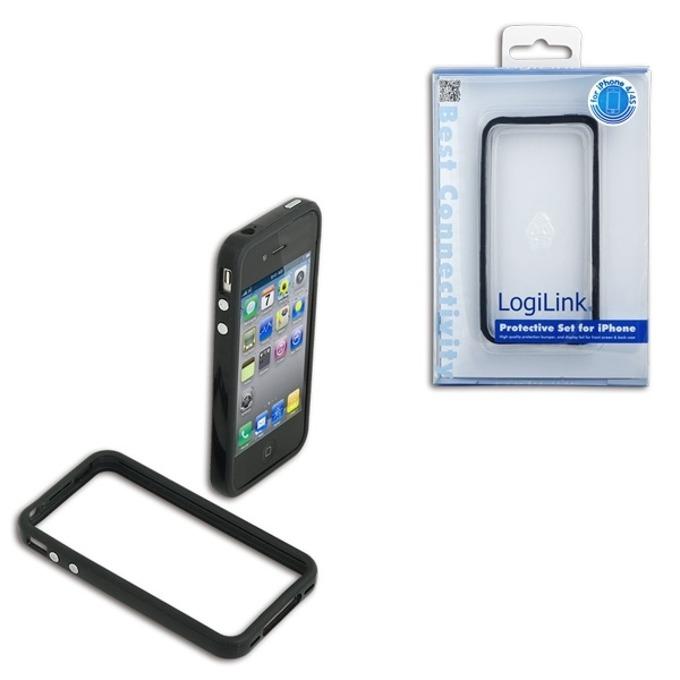 Калъф за iPhone 4/4S, LogiLink AA0021, поликарбонат,черен image