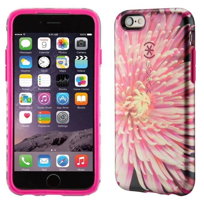 Страничен протектор с гръб Speck за iPhone 6S, розов с щампа image