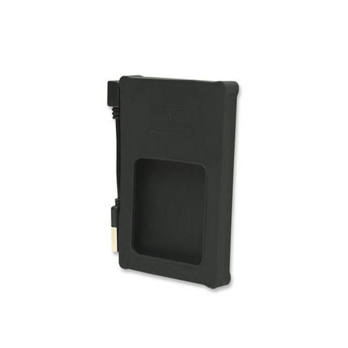 """Кутия 2.5"""" (6.35 cm), Manhattan 130103, за 2.5"""" SATA HDD, USB 2.0, силиконова, черна  image"""