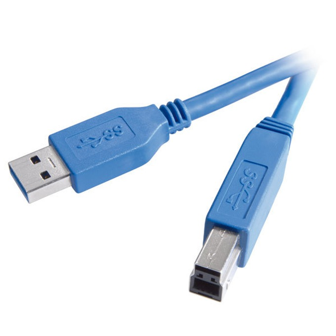 Кабел Vivanco 45270, USB A(м) към USB 3.0 B(м), 1.8m, син image
