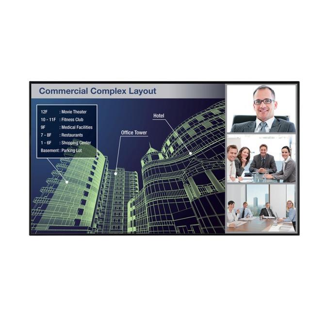 "Публичен дисплей Sharp PNHW861, 86"" (218.44 cm), Ultra HD, LAN, HDMI, VGA, USB, RS232 image"
