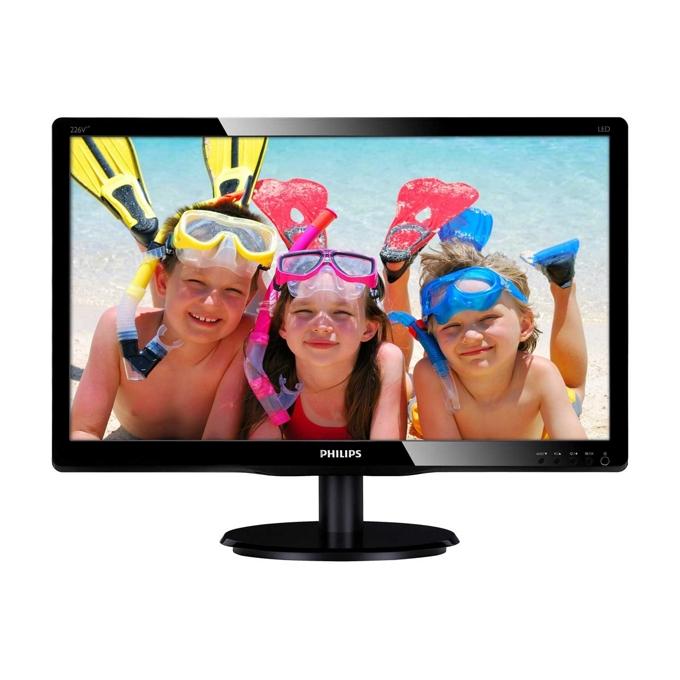 """Монитор 21.5"""" (54.61 cm) Philips 226V4LAB FULL HD LED, 5ms 10 000 000:1 250cd/m2 DVI колонки черен image"""