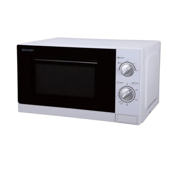 Микровълнова фурна Sharp R20DW, механично управление, 800 W, 20 л. обем, 5 степени на мощност, бяла image