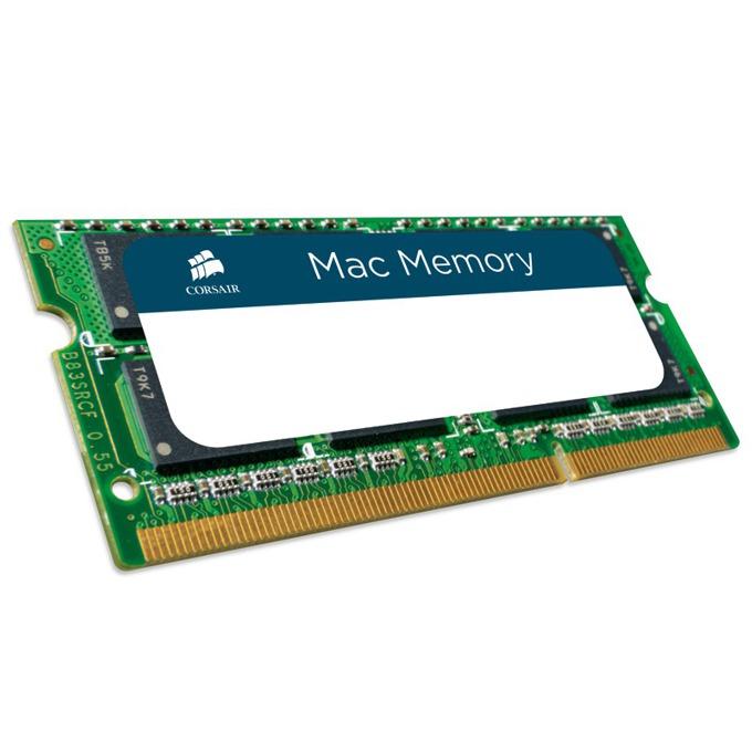 Памет 8GB DDR3 1333MHz, SO-DIMM, Corsair CMSA8GX3M1A1333C9, 1.5V image