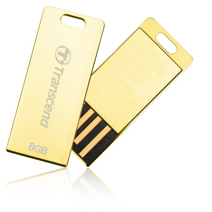 8GB USB Flash Drive, Transcend JetFlash T3G, USB 2.0, златиста image