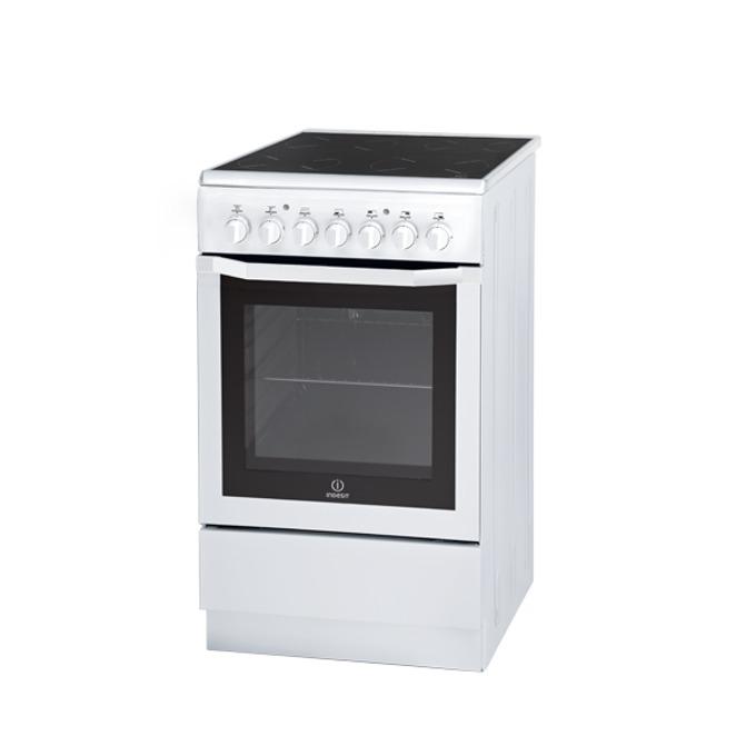 Готварска печка със стъклокерамичен плот Indesit I5V62A(W)/EU, клас А, 57 л. обем, 4 нагревателни зони, леснно почистване, бяла  image