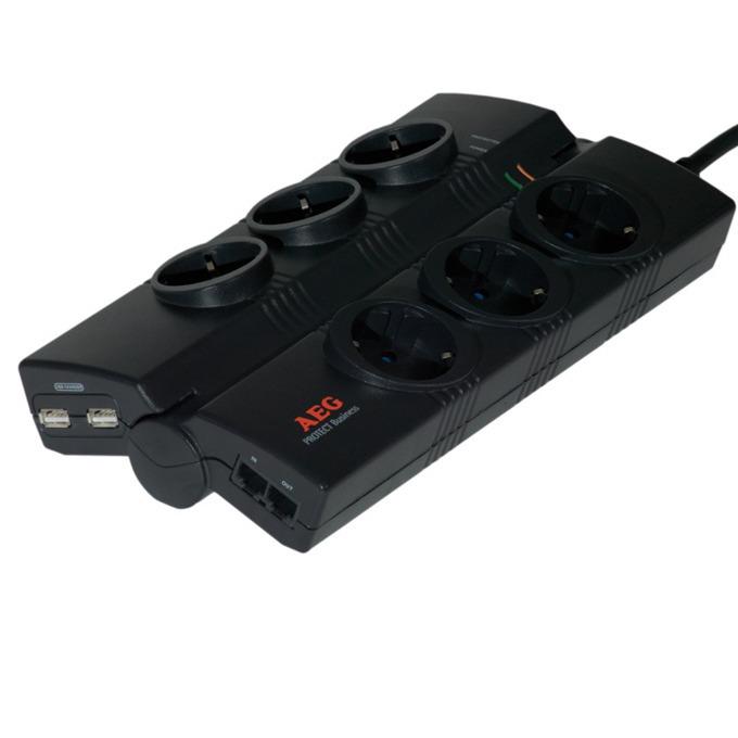 Разклонител AEG 6000007748, 6x safety sockets  image
