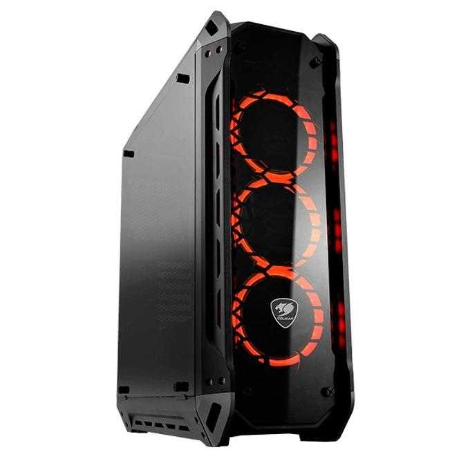 Кутия Cougar Gaming Panzer-G, Mini ITX/Micro ATX/ATX/CEB, 2x USB 3.0, прозорец със закалено стъкло, черна, без захранване image