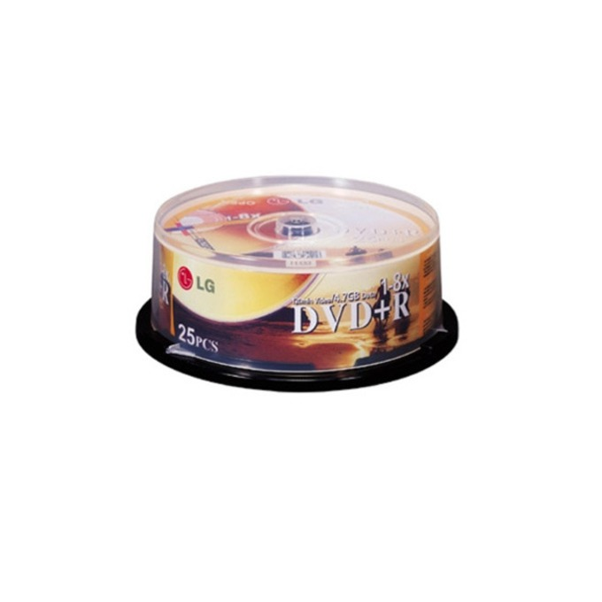DVD+R media 4.7 GB, LG, 8x, 25бр image