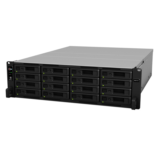 "Synology RackStation RS4017xs+, осемядрен Intel Xeon D-1541 2.10/2.70GHz, без твърд диск (16x SATA 2.5""/3.5"" HDD/SSD), 8GB DDR4 ECC RAM, 4x Lan1000, 2x Lan 10Gb, 2x USB 3.0, 2x Expansion port image"