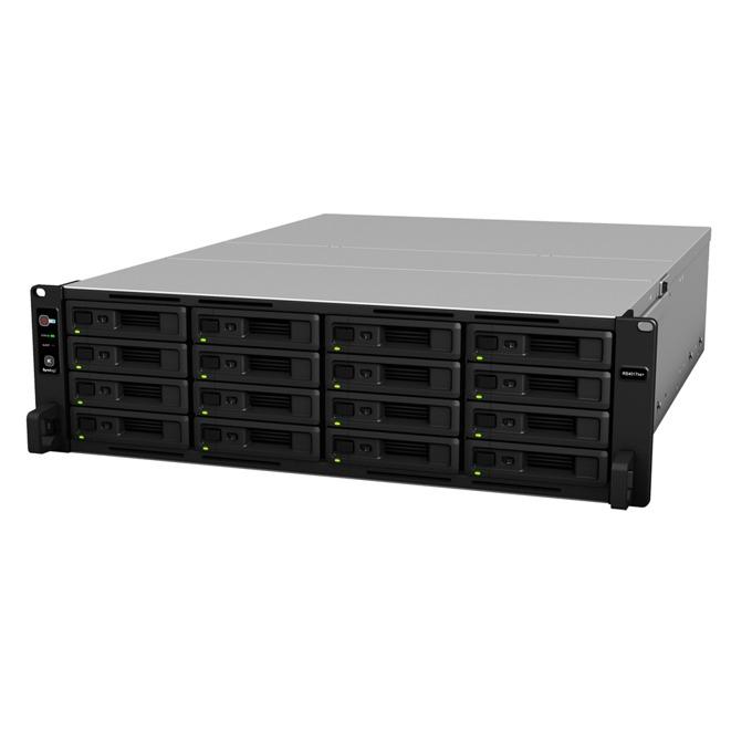 """Мрежови диск (NAS) Synology RackStation RS4017xs+, осемядрен Intel Xeon D-1541 2.10/2.70GHz, без твърд диск (16x SATA 2.5""""/3.5"""" HDD/SSD), 8GB DDR4 ECC RAM, 4x Lan1000, 2x Lan 10Gb, 2x USB 3.0, 2x Expansion port image"""