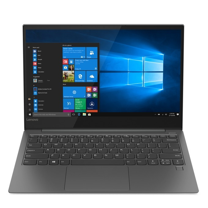 "Лаптоп Lenovo Yoga S730-13IWL (81J00064BM)(сив), четириядрен Whiskey Lake Intel Core i7-8565U 1.8/4.6 GHz, 13.3"" (33.78 cm) Full HD IPS Display, (HDMI), 16GB, 512GB SSD, 2x USB-C 3.1, Windows 10, 1.1 kg image"