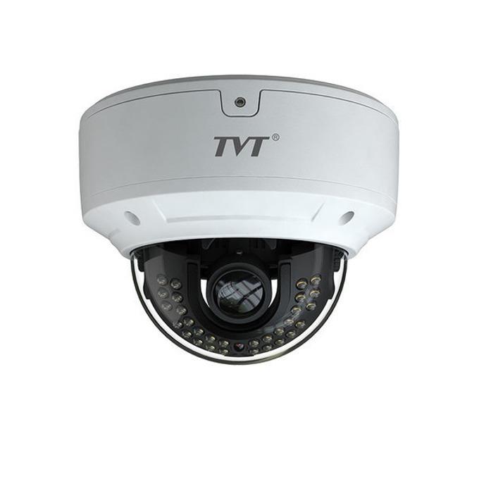 IP камера TVT TD-9581E2(D/PE/IR1), куполна, 8 Mpix(2688×1520@30FPS), 2.8 mm обектив, H.265 / H.264 / MJPEG, IR осветеност (до 20м), IP66 защита, PoE, RJ-45 image