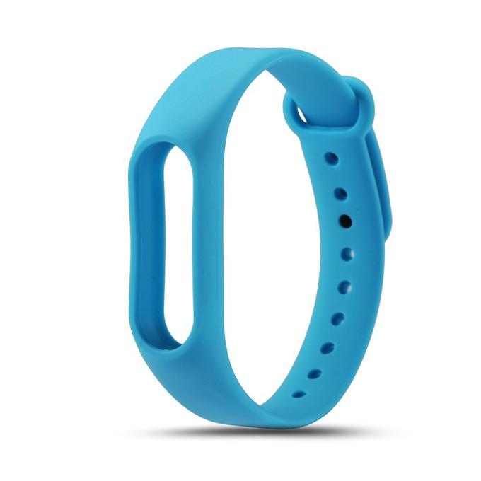 Силиконова гривна за Mi Band 2, само гривна, синя image