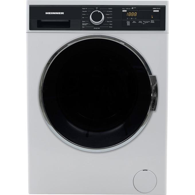Перална машина Heinner HWM-V914TD+++, D, капацитет 9кг, 1400 rpm, 15 програми, свободностояща, 58.2см ширина, бял image