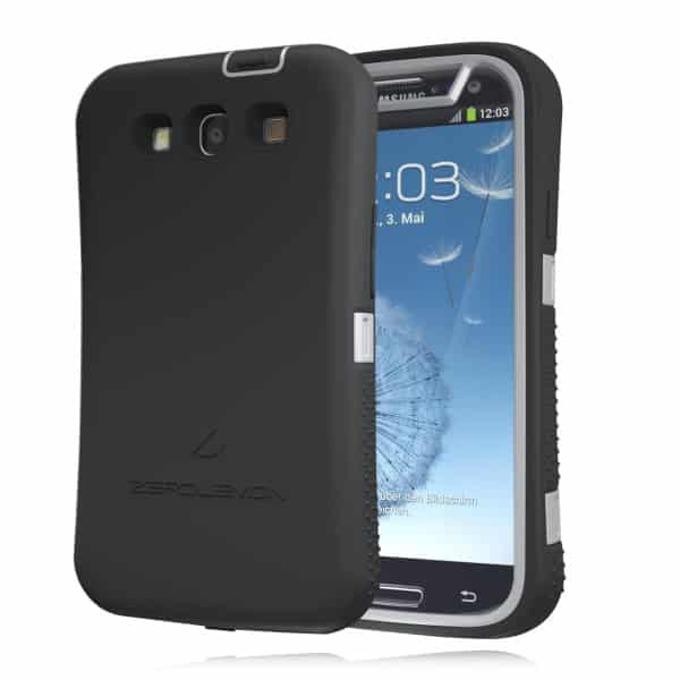 Протектор Zerolemon за Samsung Galaxy S3, черен със сив кант image