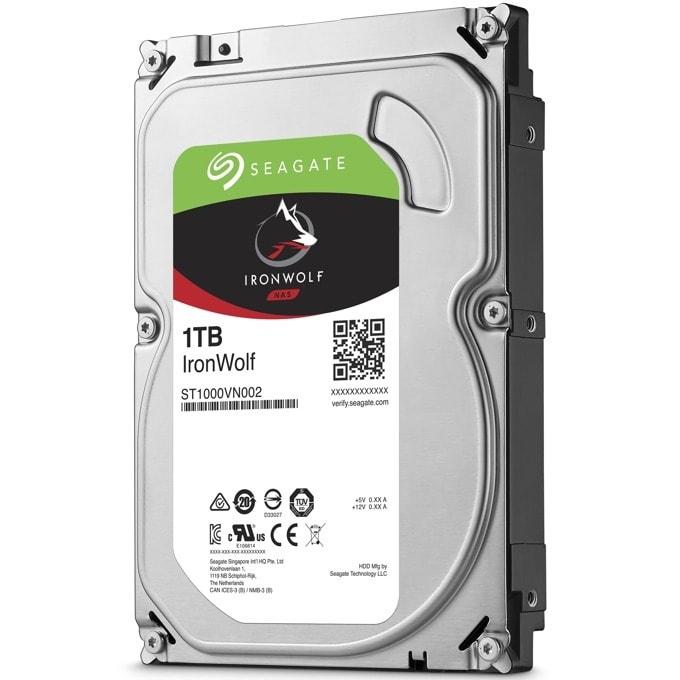 """Твърд диск 1TB Seagate IronWolf, SATA 6Gb/s, 5900 rpm, 64MB кеш, 3.5""""(8.89 cm) image"""