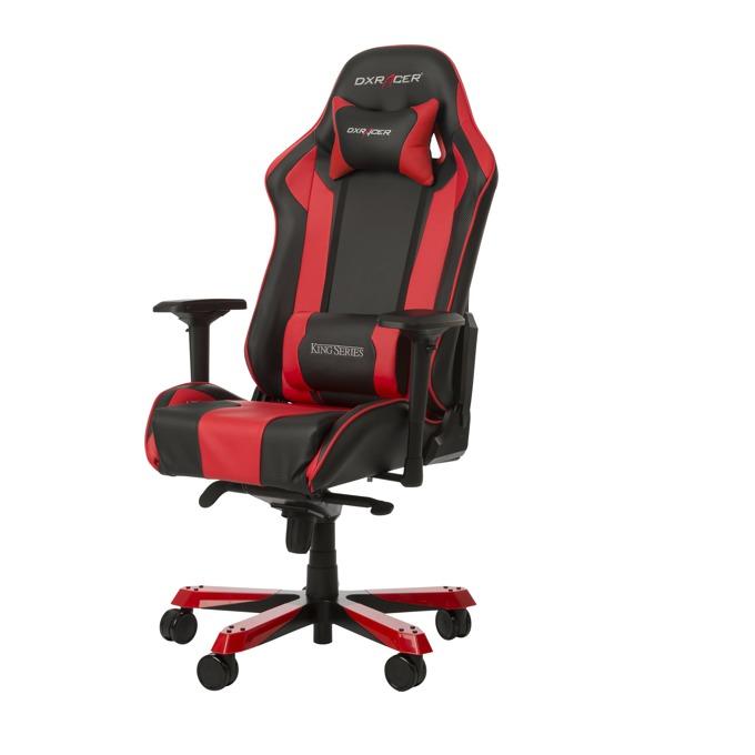 Геймърски стол DXRacer King, черен/червен image