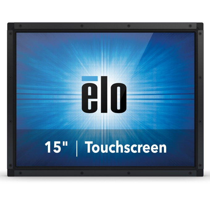 """Монитор ELO E126407, 15""""(38.10 cm), TN тъч панел, XGA, 35ms, 1500:1, 400cd/m2, VGA, DisplayPort, HDMI, RS232, черен image"""