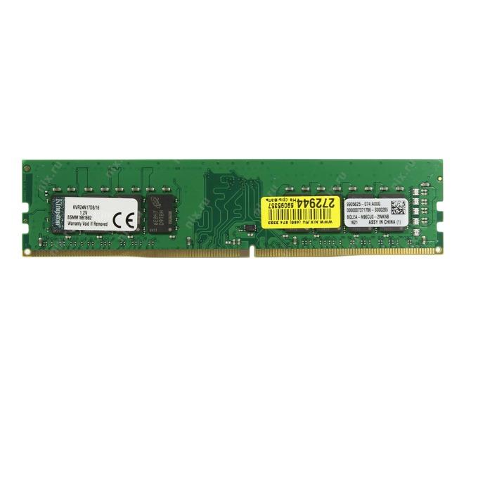16GB DDR4 2400MHz, Kingston KVR24N17D8/16, 1.2V image