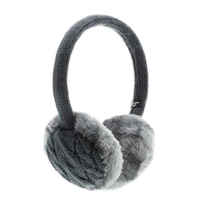 Слушалки KitSound Chunky Ink Knit Earmuffs, сиви, с ушанки image
