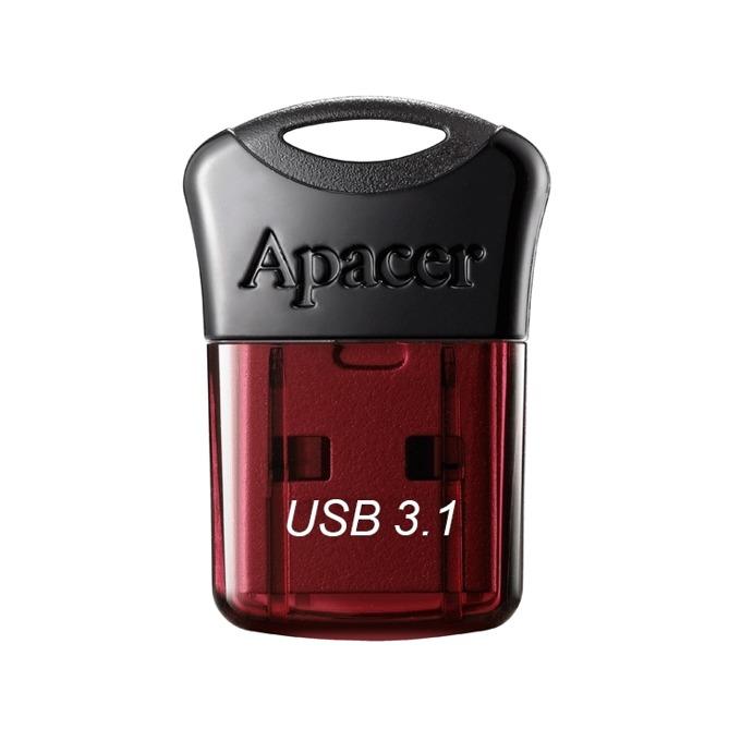 64GB USB Flash Drive, Apacer Super-mini AH157, USB 3.1, червен image
